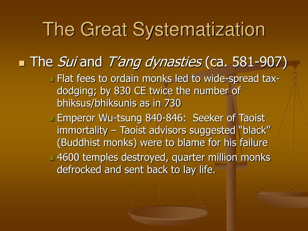 The Great Systematization