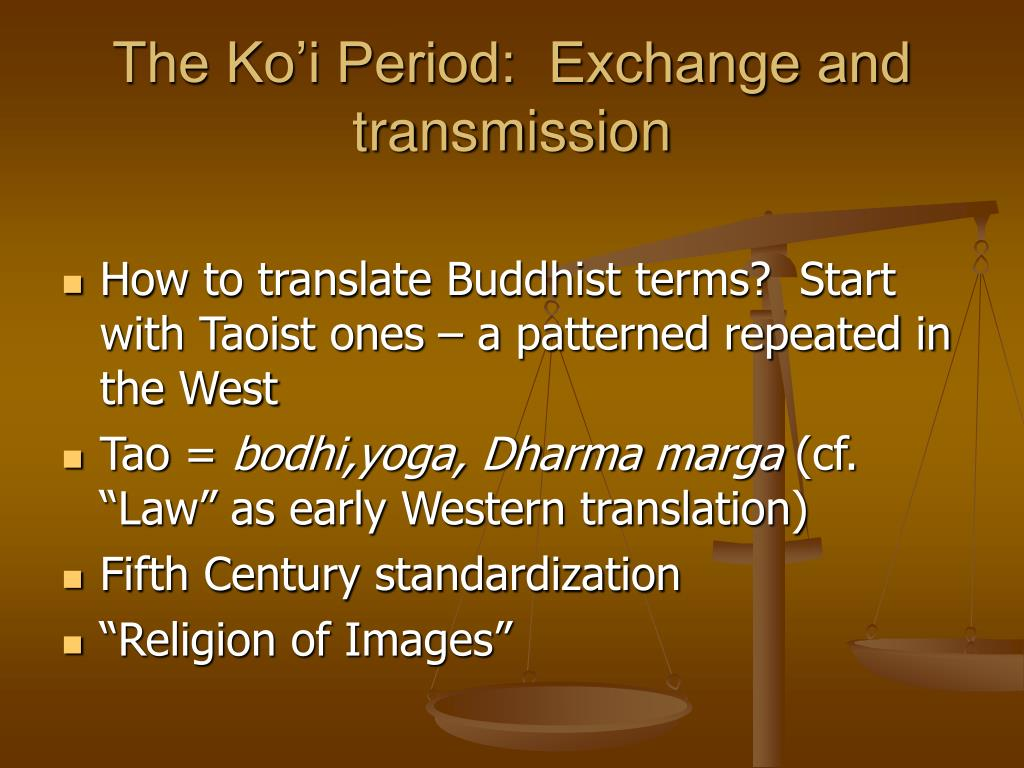 The Ko'i Period:  Exchange and transmission