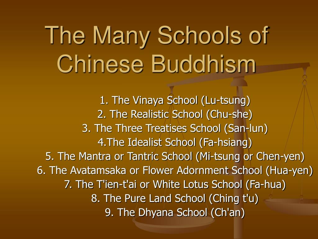 The Many Schools of Chinese Buddhism