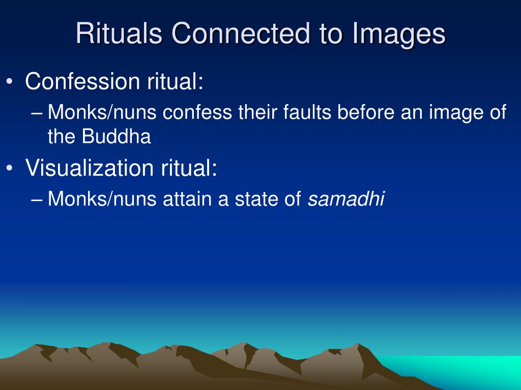 Rituals Connected to Images