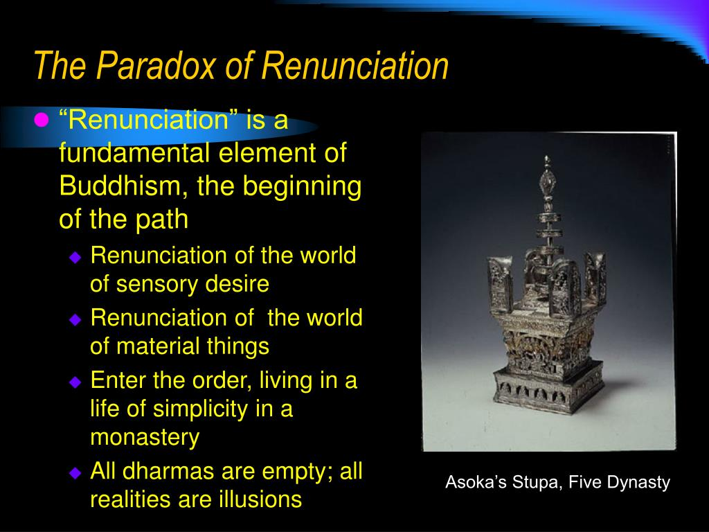 The Paradox of Renunciation