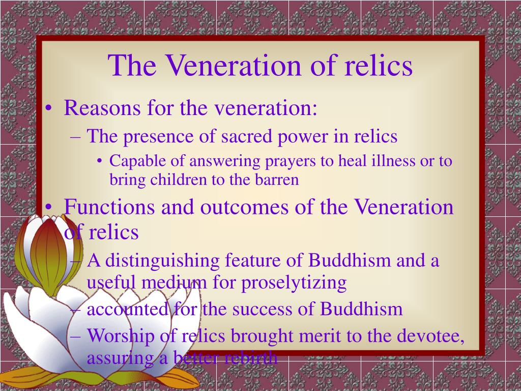 The Veneration of relics