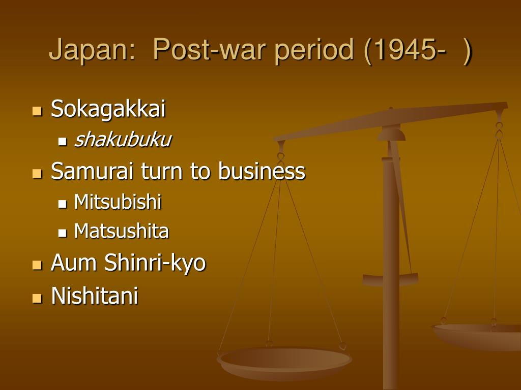 Japan:  Post-war period (1945-  )
