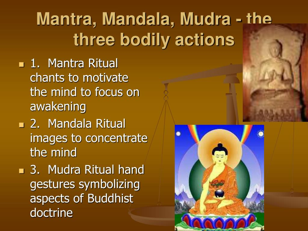 Mantra, Mandala, Mudra - the three bodily actions