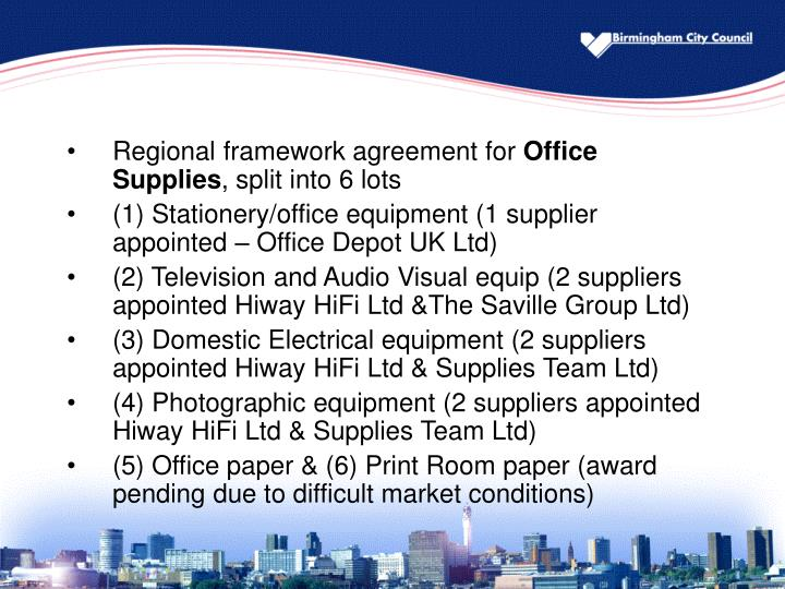 Regional framework agreement for