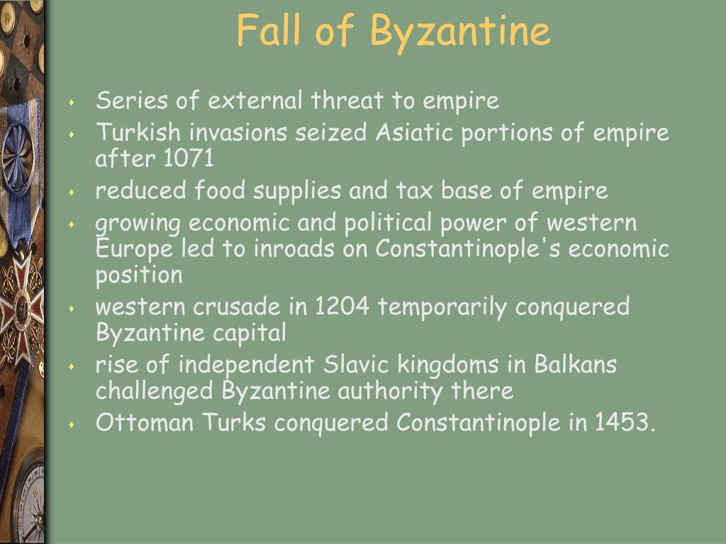 Fall of Byzantine
