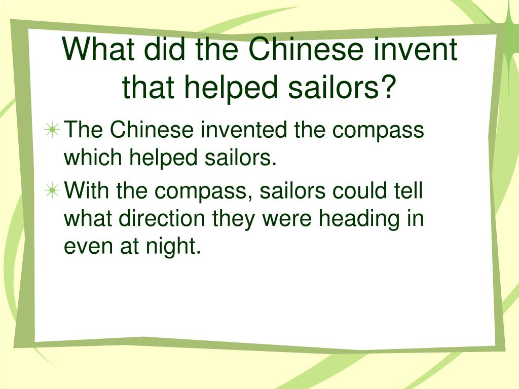 What did the Chinese invent that helped sailors?