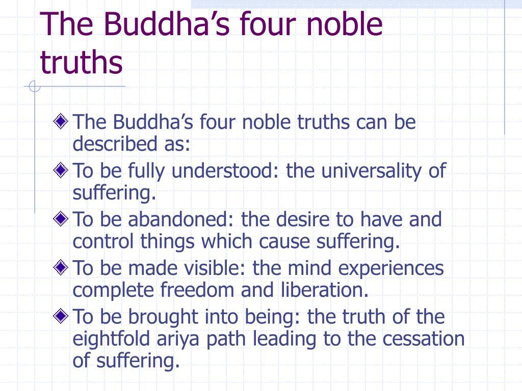 The Buddha's four noble truths