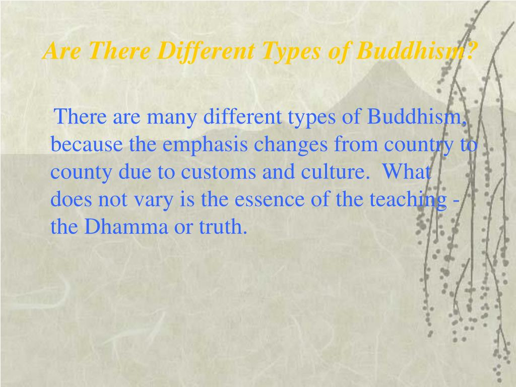 Are There Different Types of Buddhism?