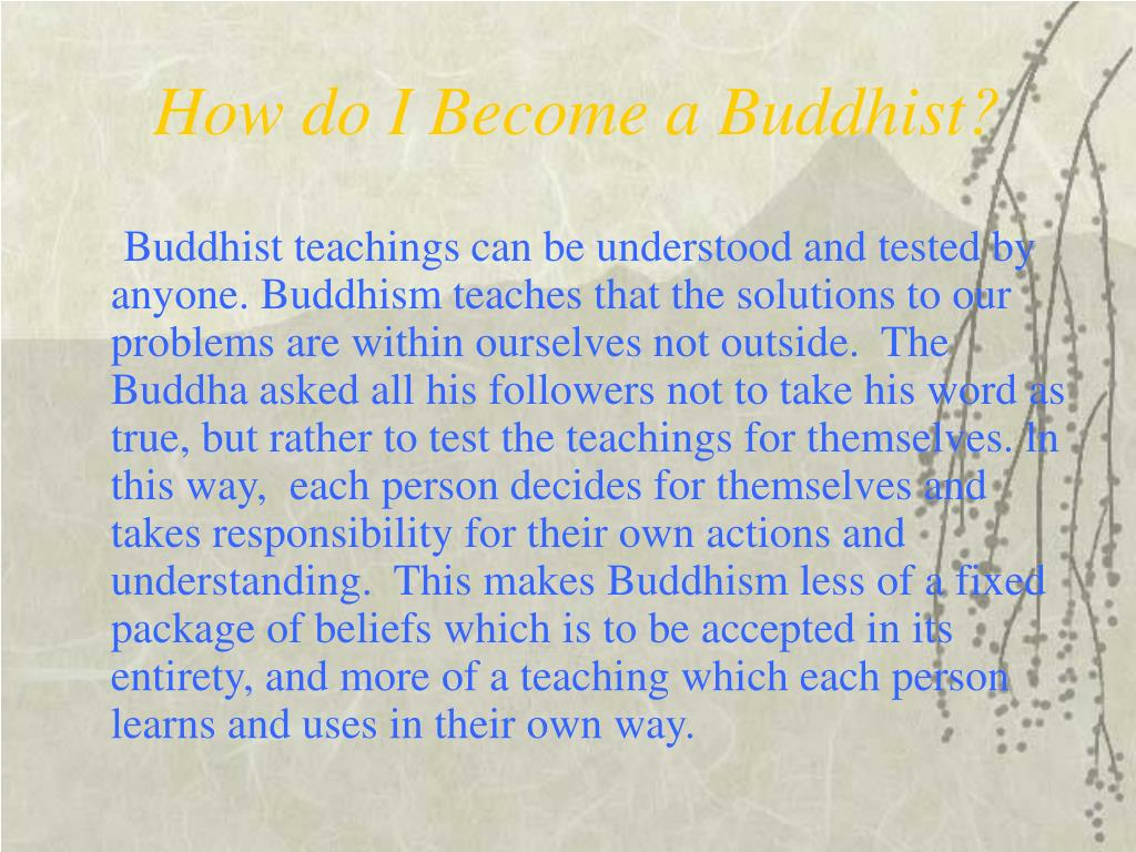How do I Become a Buddhist?