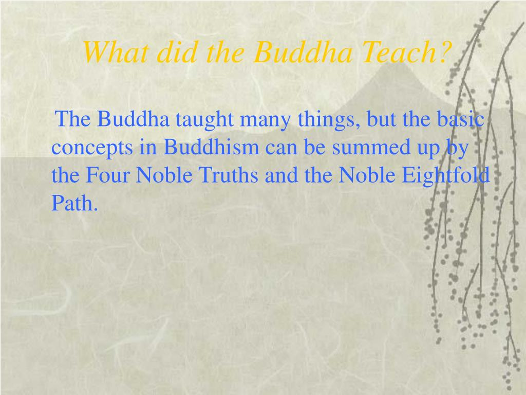 What did the Buddha Teach?
