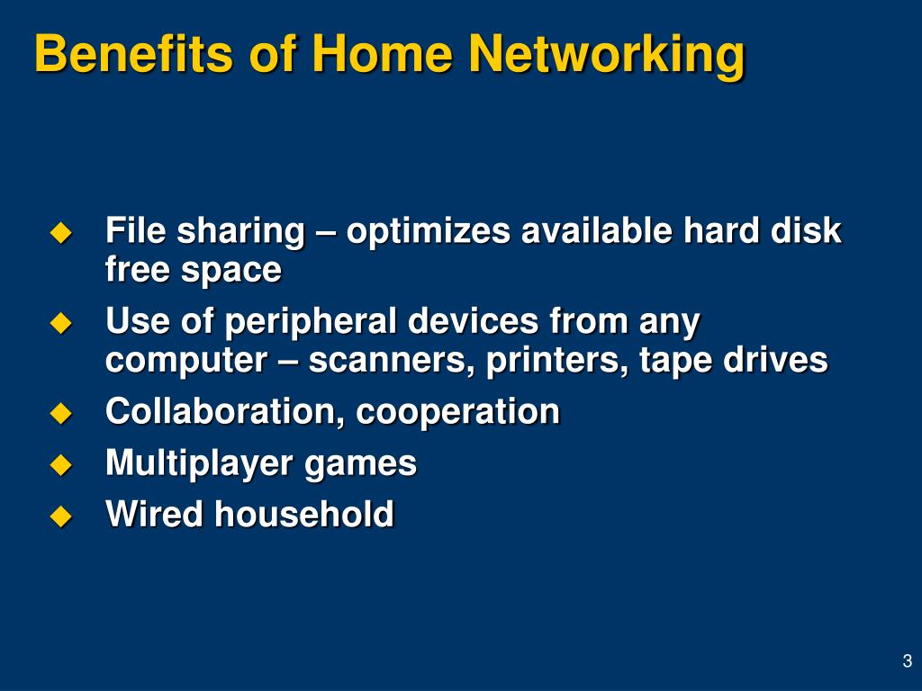 Benefits of Home Networking