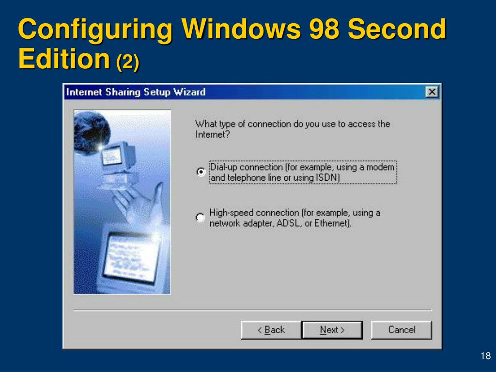 Configuring Windows 98 Second Edition