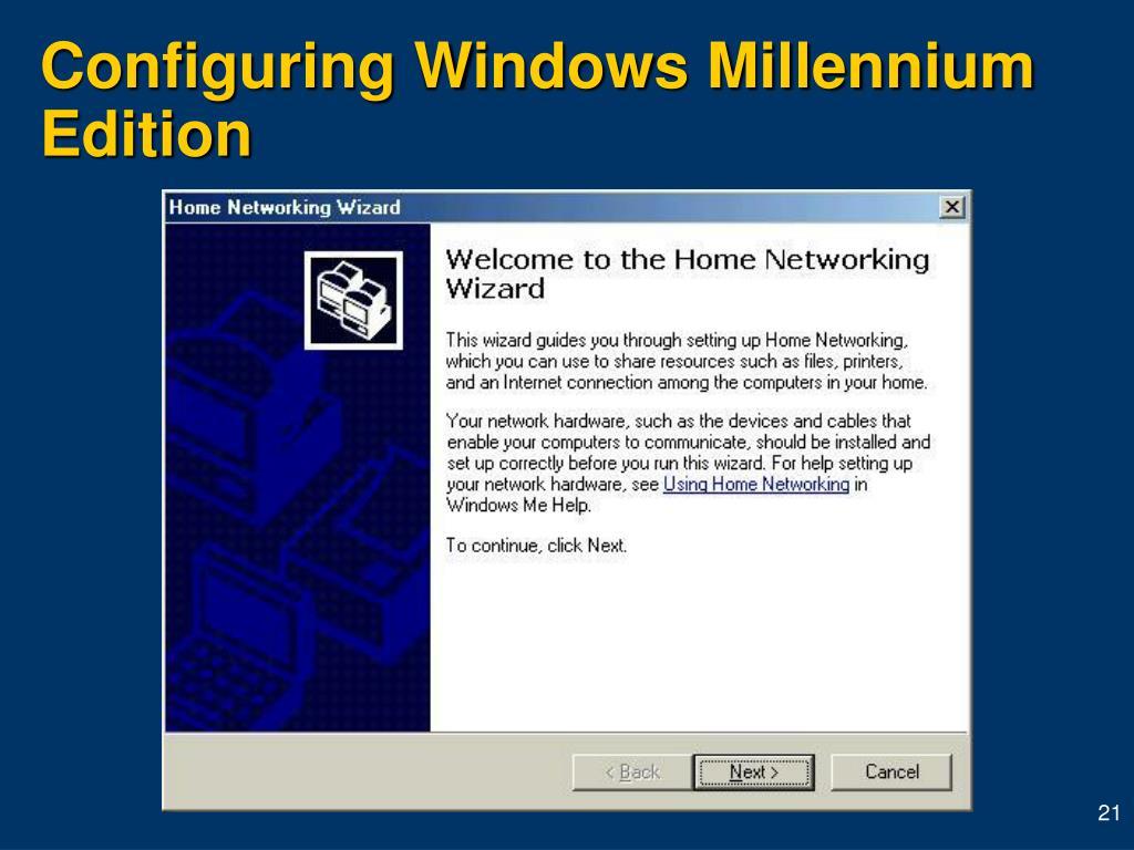Configuring Windows Millennium Edition