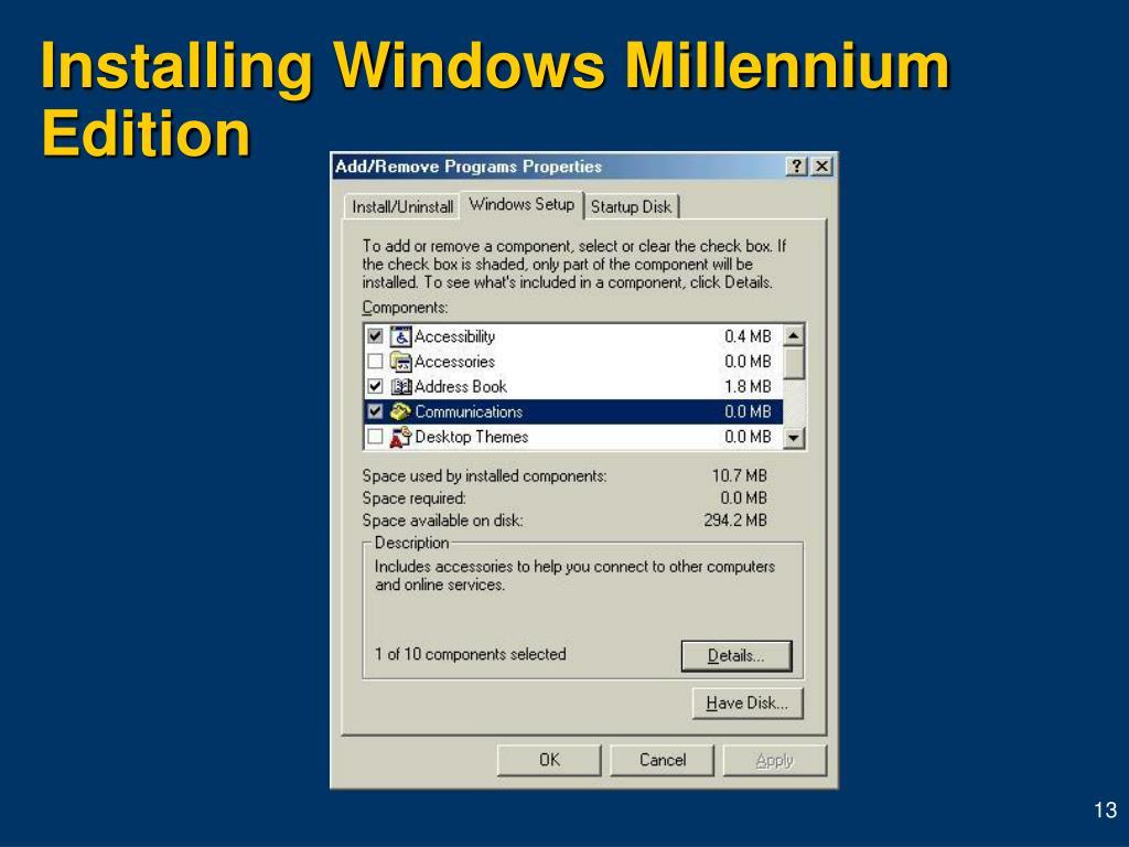 Installing Windows Millennium Edition