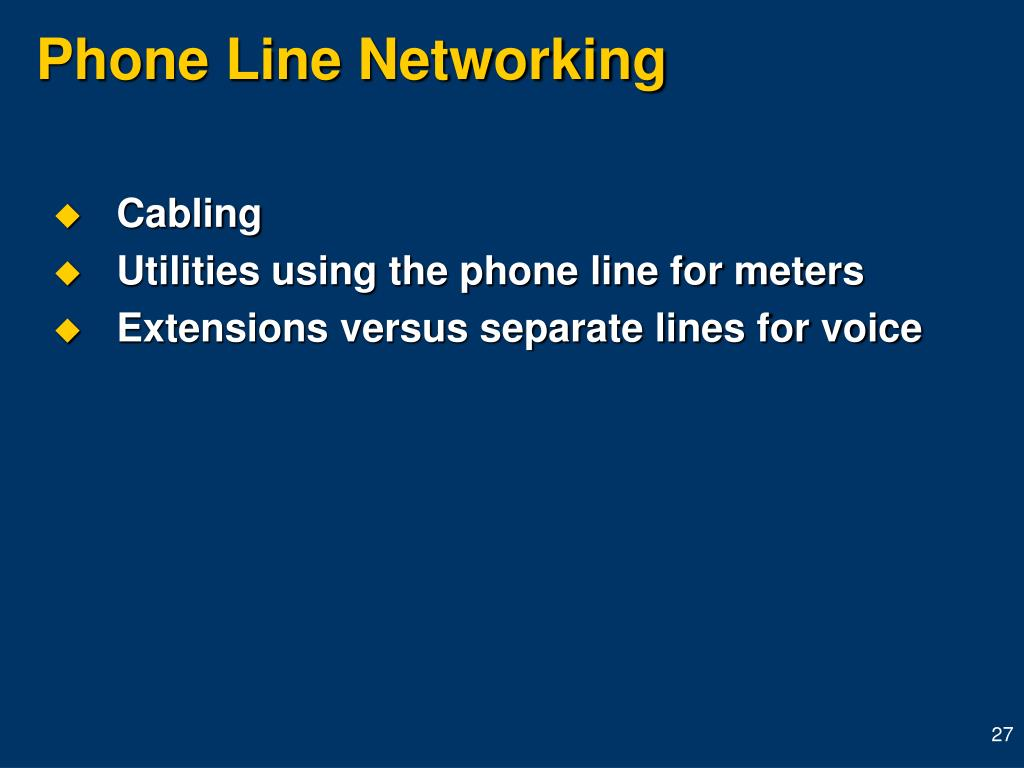 Phone Line Networking
