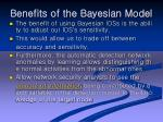 benefits of the bayesian model