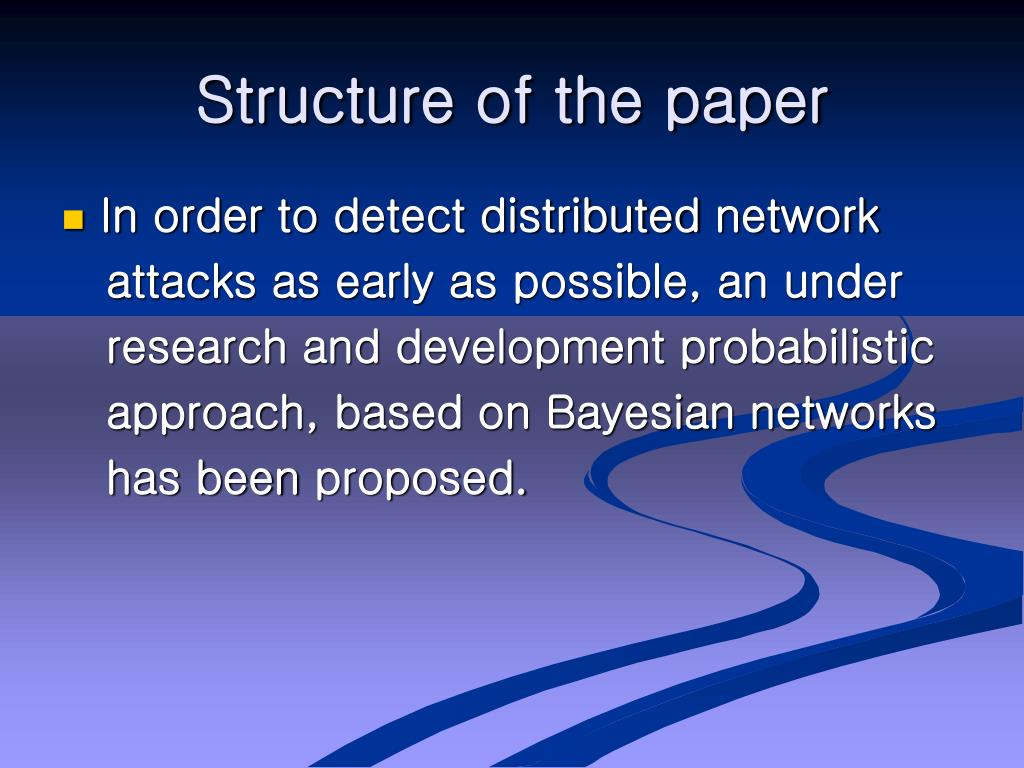 Structure of the paper