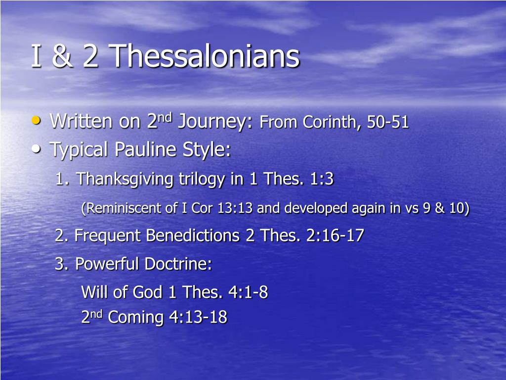 I & 2 Thessalonians