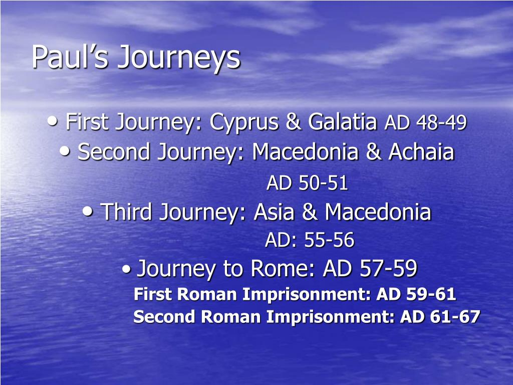 Paul's Journeys