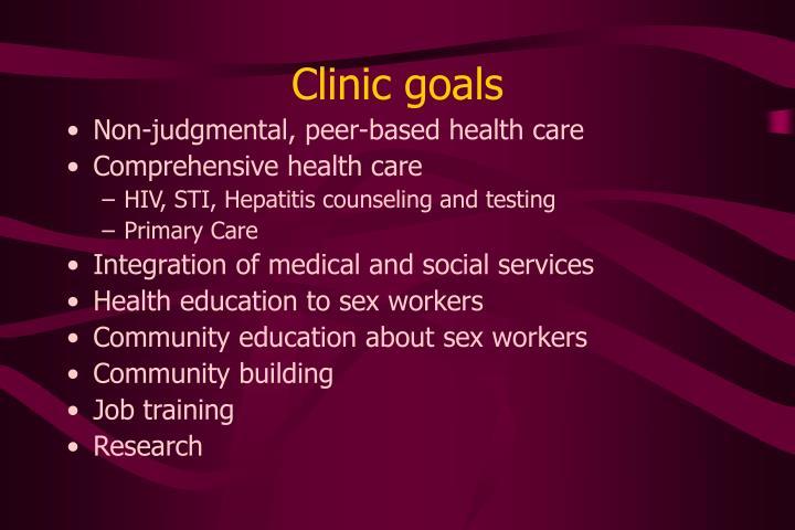 Clinic goals