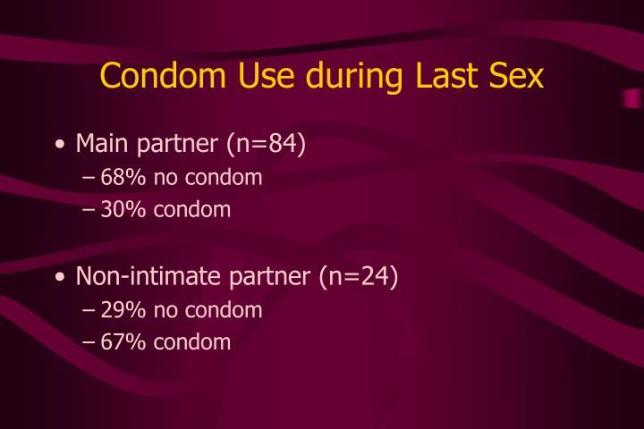 Condom Use during Last Sex