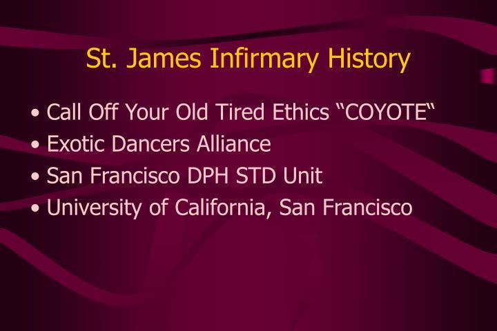 St. James Infirmary History