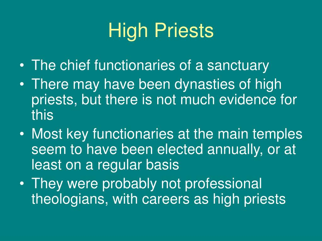 High Priests