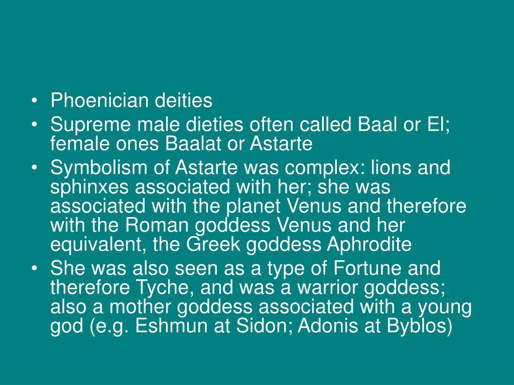 Phoenician deities