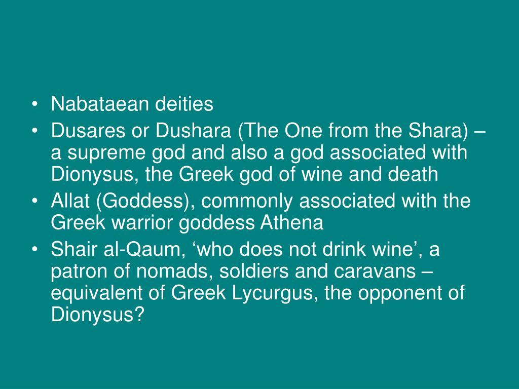 Nabataean deities