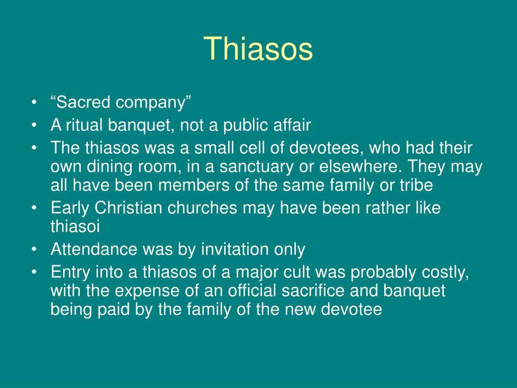 Thiasos
