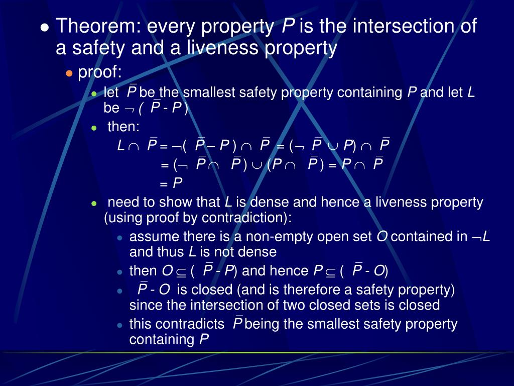 Theorem: every property