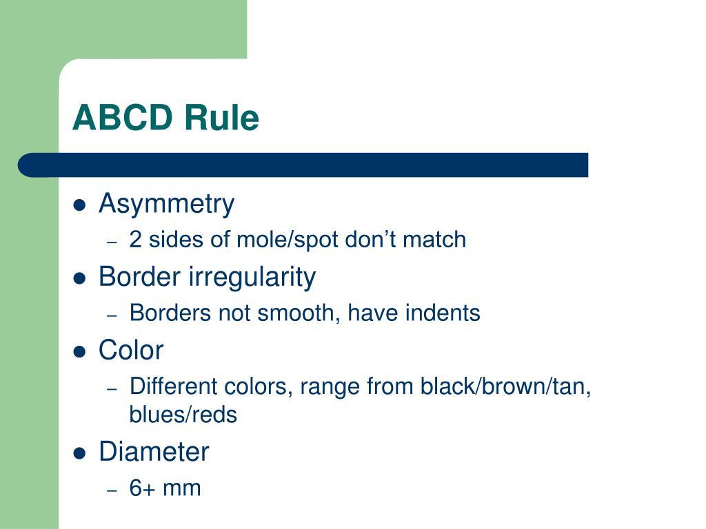 ABCD Rule