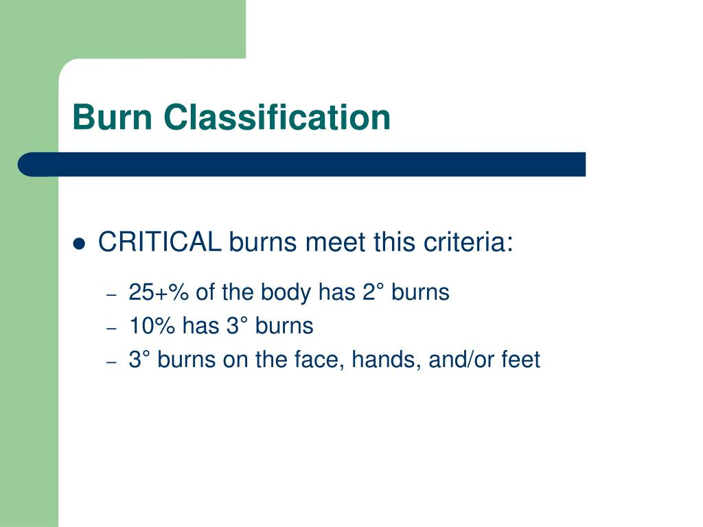 Burn Classification