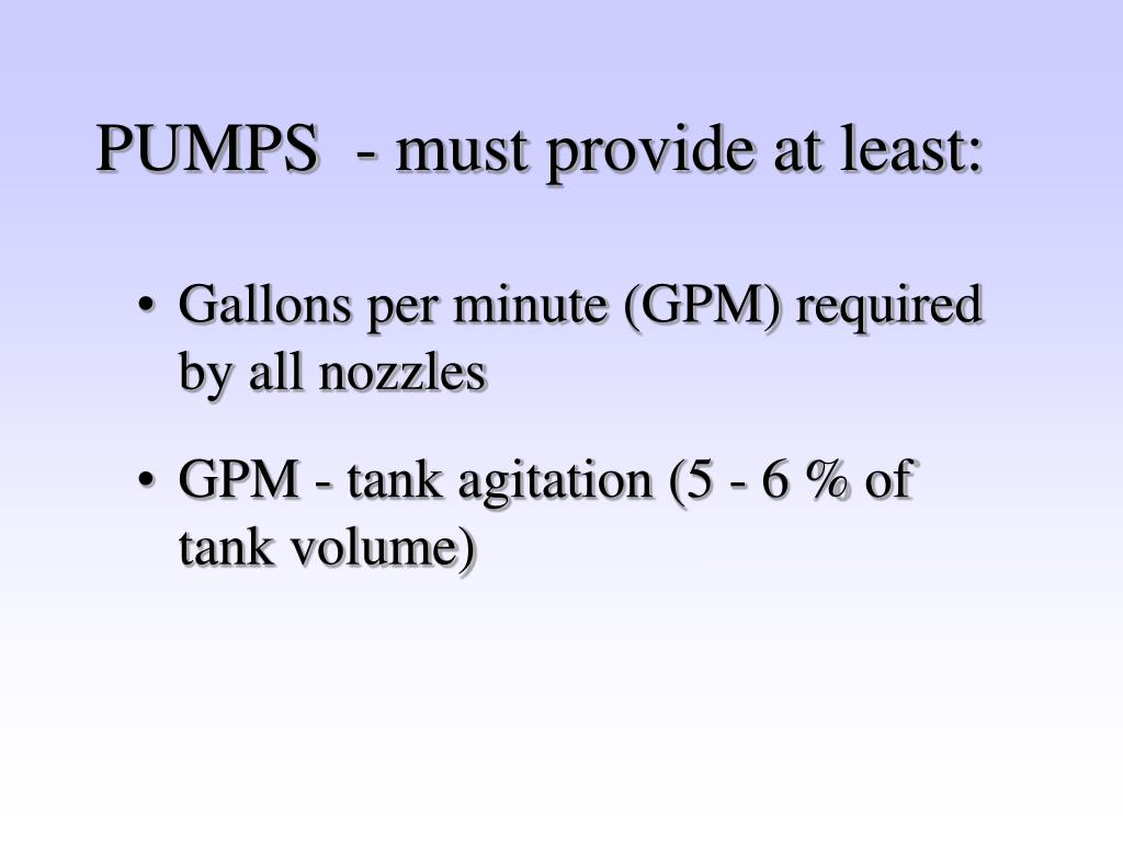 PUMPS  - must provide at least: