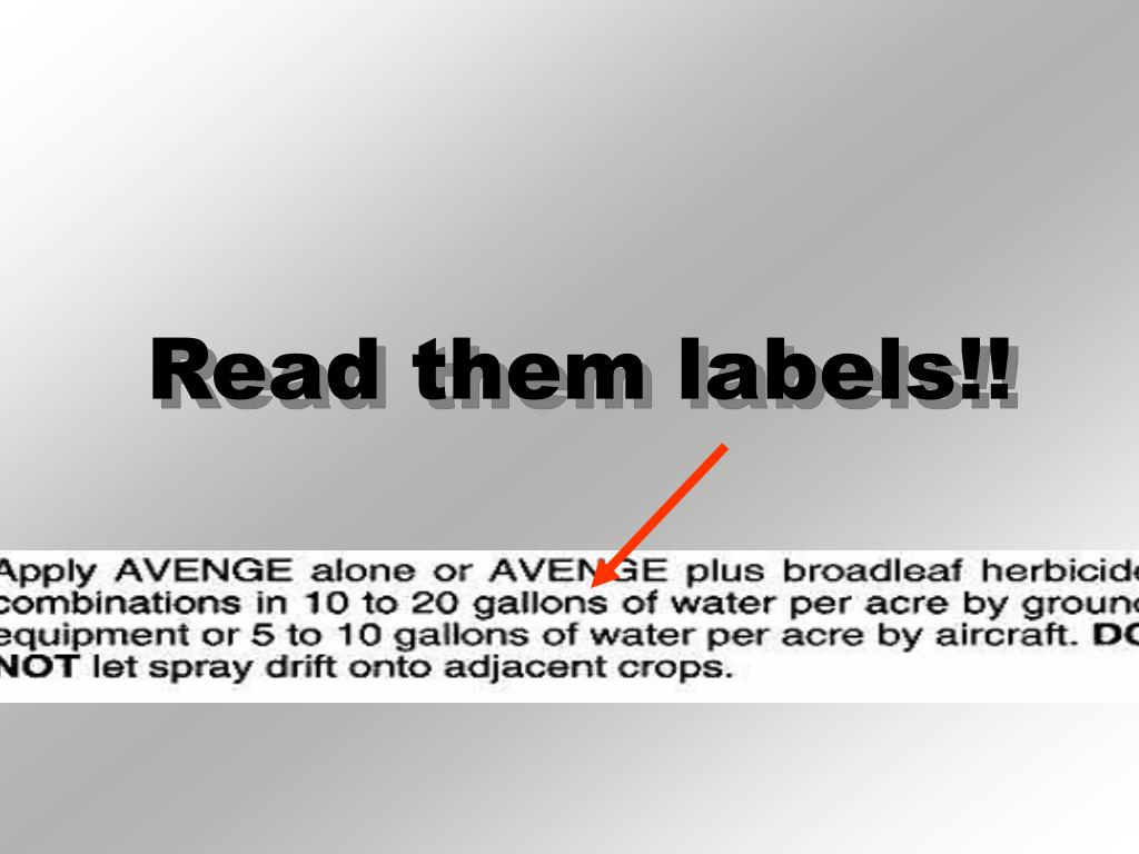Read them labels!!