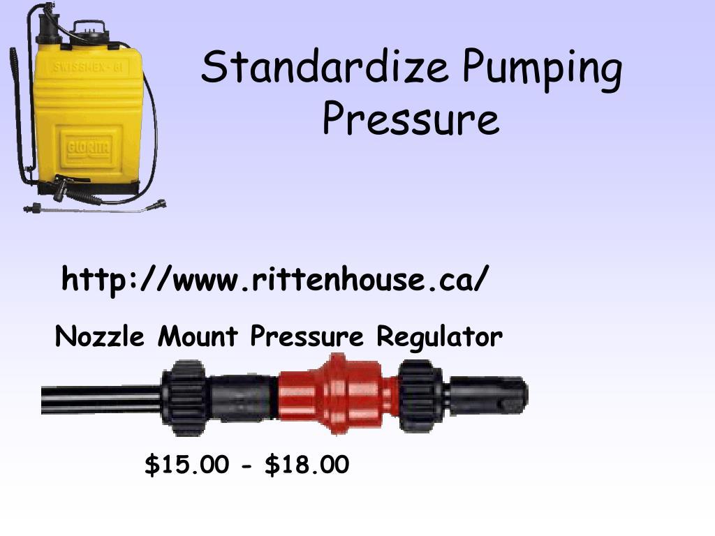 Standardize Pumping Pressure
