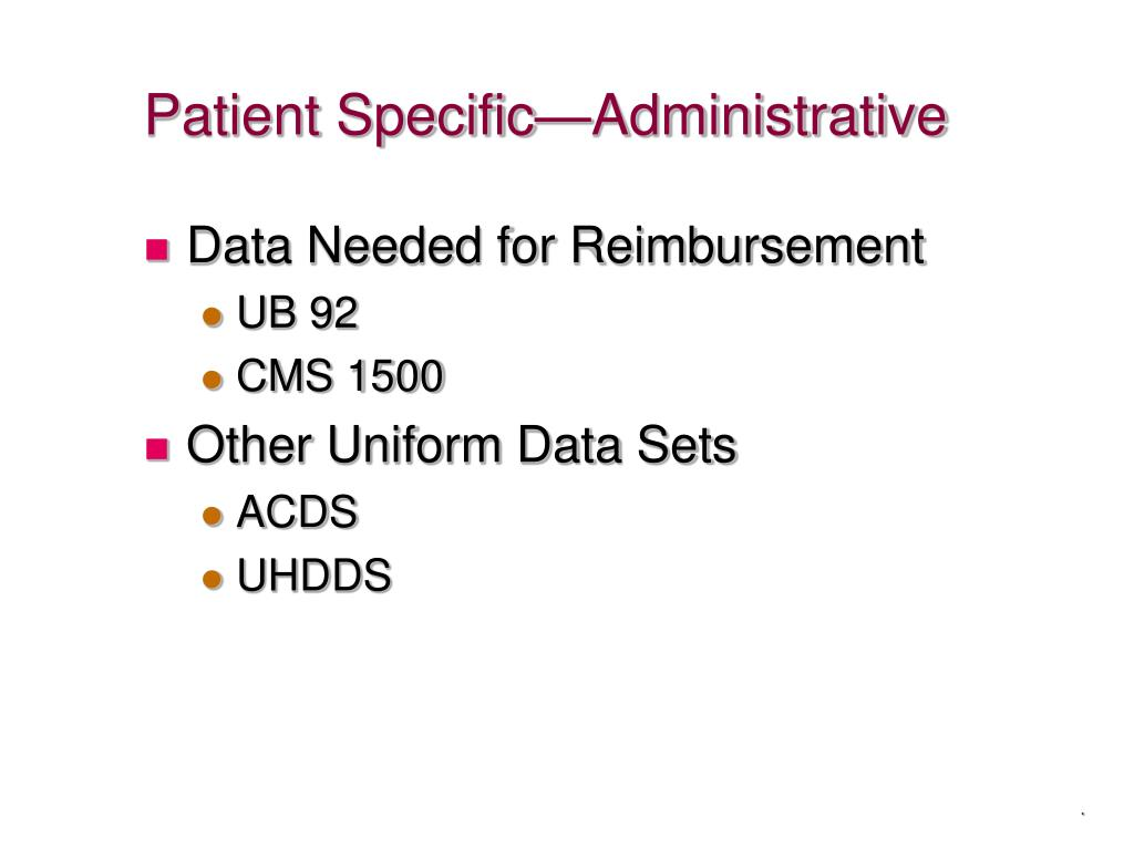 Patient Specific—Administrative