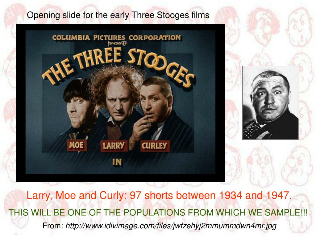 Opening slide for the early Three Stooges films