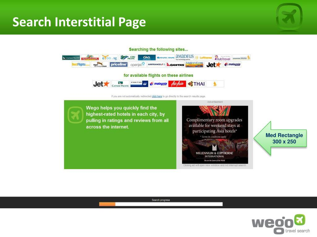 Search Interstitial Page