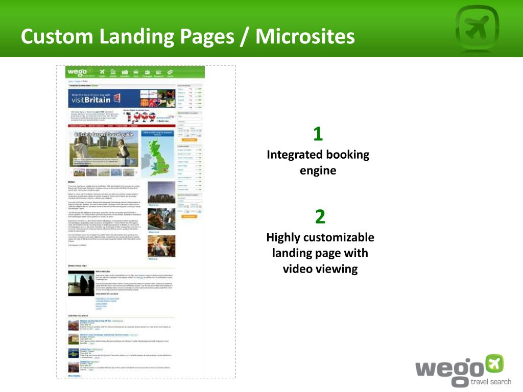 Custom Landing Pages / Microsites