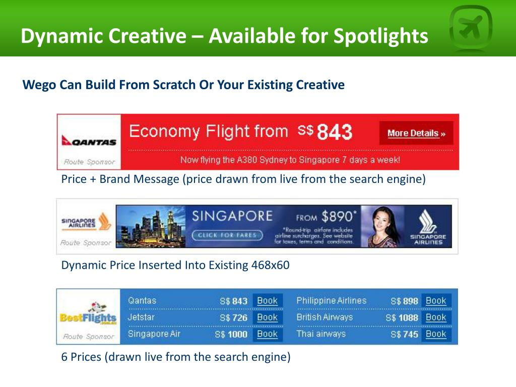 Dynamic Creative – Available for Spotlights