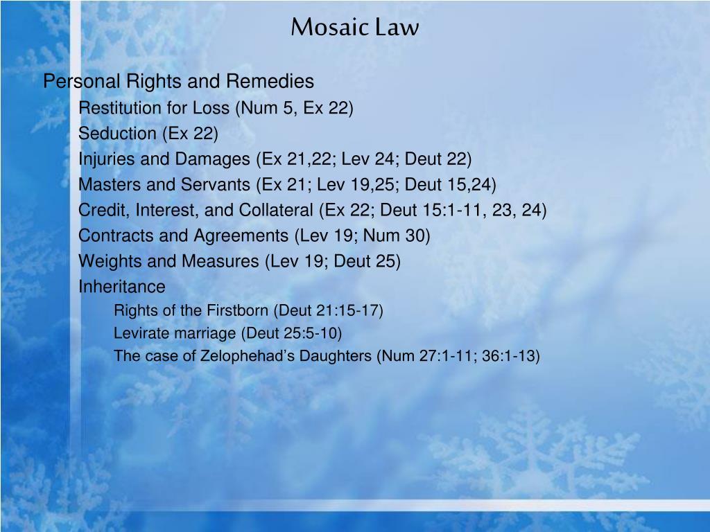 Mosaic Law