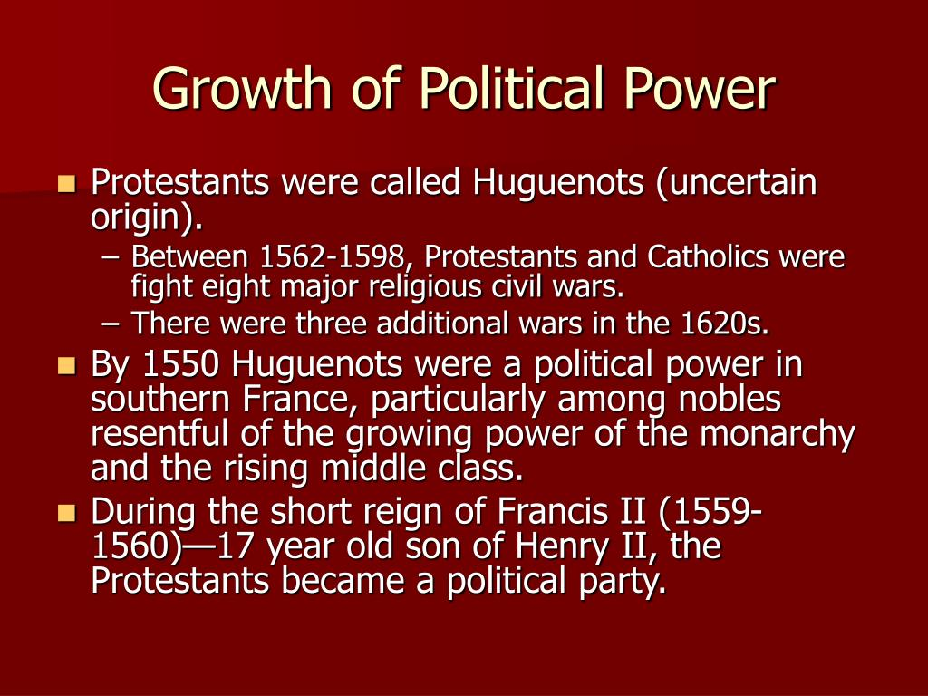 Growth of Political Power