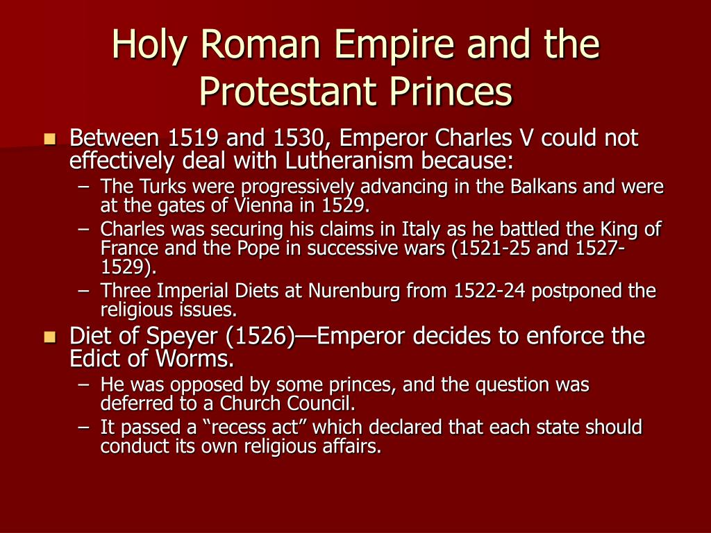 Holy Roman Empire and the Protestant Princes