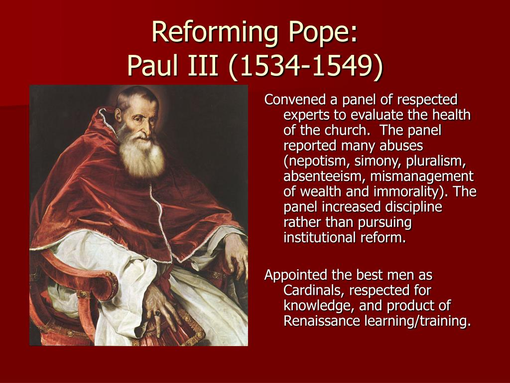 Reforming Pope: