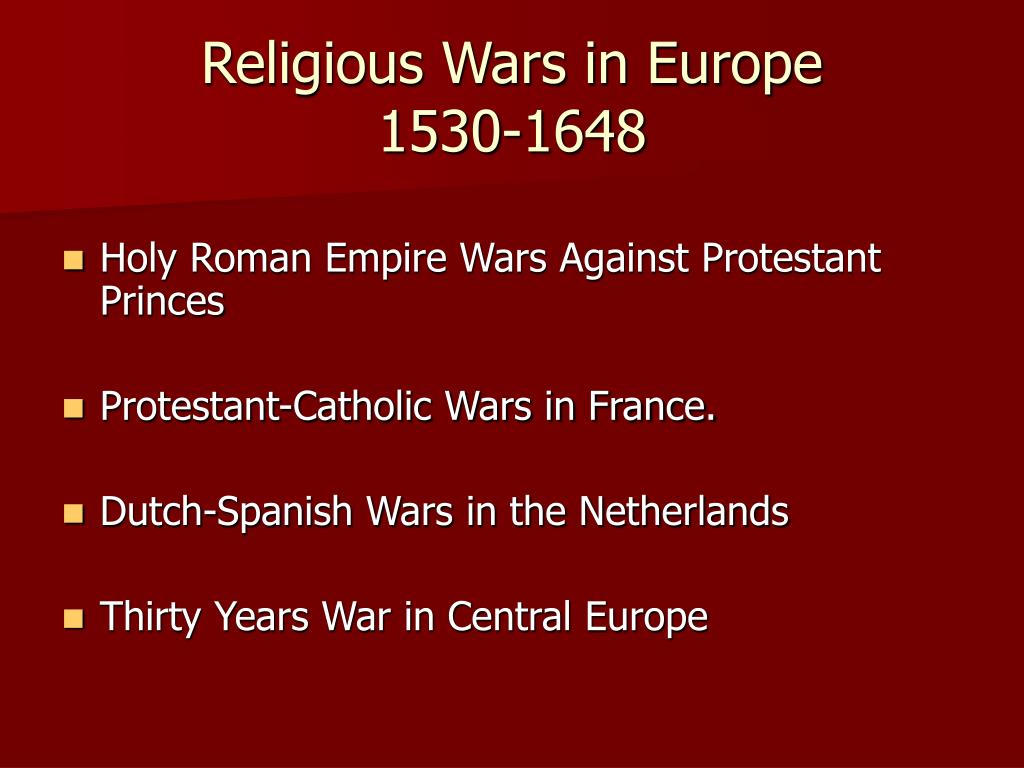 Religious Wars in Europe
