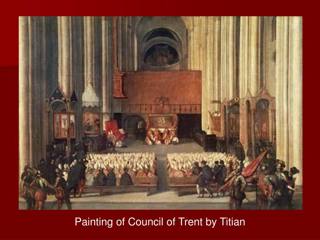 Painting of Council of Trent by Titian