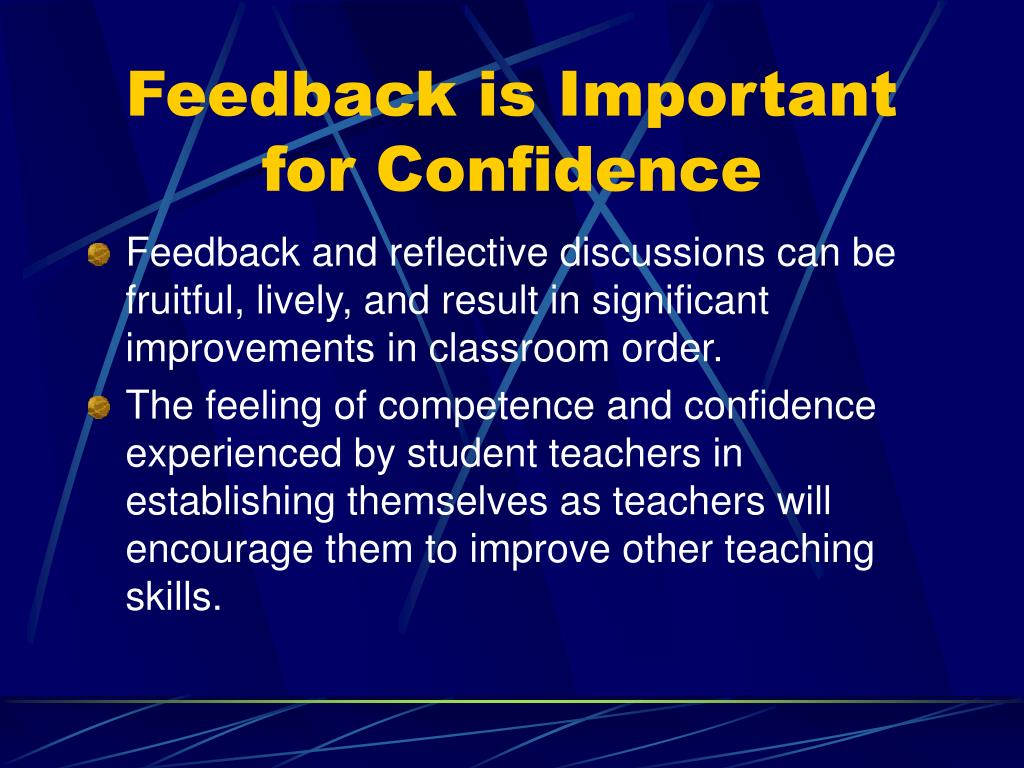 Feedback is Important for Confidence