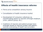 effects of health insurance reforms